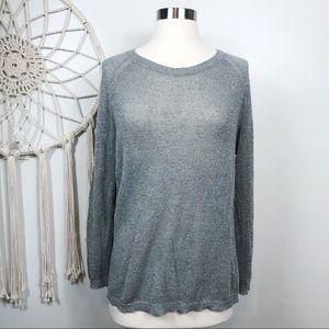 Dries Van Noten Gray Metallic Knit Sweater